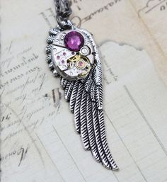 Beautiful steampunk necklace