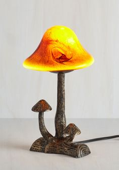 Because You're Earth It Lamp. Treat yourself and your rustic decor to the woodsy wonder of this mushroom lamp! Vintage Decor, Rustic Decor, Retro Vintage, Light Em Up, Modcloth, Amber Glass, Home Decor Inspiration, Decor Ideas, Light Decorations