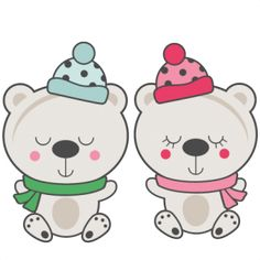 (Daily FREEBIE) Polar Bear Couple - Available for FREE today only, Nov 2
