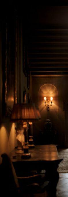 Dimly lit entry...