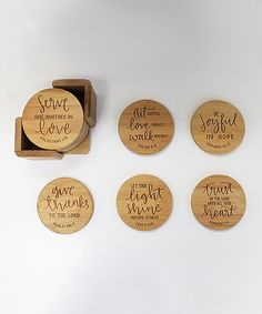 Look what I found on #zulily! Bible verse Round Coaster - Set Of Six by Stamp Out Online #zulilyfinds