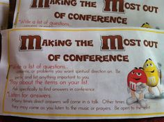 Shauna and Co.: M&M's For General Conference