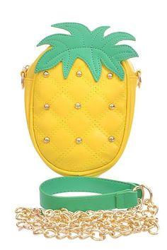 Studded Pineapple Purse