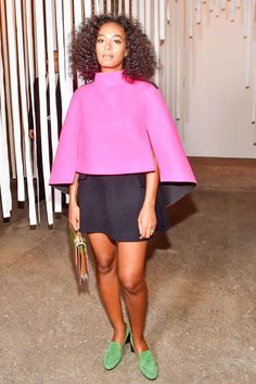 At The End Of Every Rainbow Is Solange Knowles #refinery29  http://www.refinery29.com/2016/01/101954/solange-street-style-pictures#slide-5  Solange Knowles is a shoe repeater (and we love it)!...