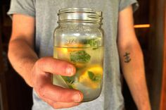 diy citrus + mint ice cubes