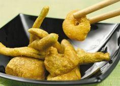 Mero y verduras en tempura de curry para #Mycook…