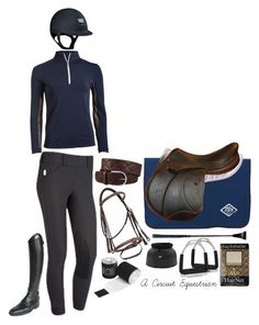 """""""horse show schooling in navyyyy"""" by a-circuit-equestrian on Polyvore featuring Parlanti"""