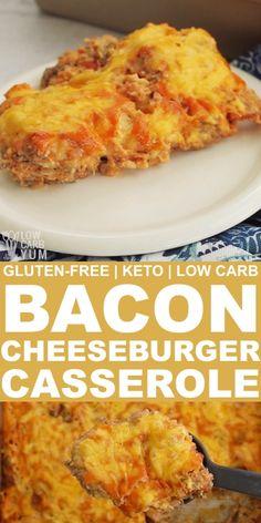 Keto Cheeseburger Casserole with Bacon - #bacon #casserole #cheeseburger - #ItalianDinnerRecipes