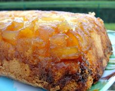 Lovely cake flavored with tropical rum, serve with ice cream for a nice summer treat!