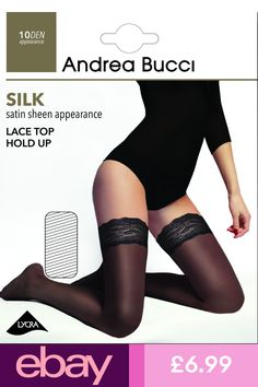 020b20c8e663b Andrea Bucci Socks & Hosiery Clothes, Shoes & Accessories Hold Ups, Silk  Satin,