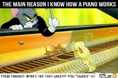 This is how I learned how a piano works  #funny #tomandjerry #toons    Want More Funny Stuff  http://FOTFL.com