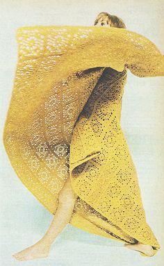 1960s crocheted afghan