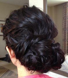 Wedding updo, wedding hair, braided updo,  chignon, textured updo, messy updo, asian bridal hair