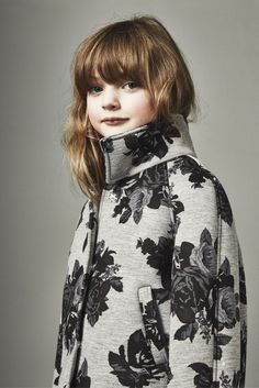 Beautiful --> Floral printed neoprene coat, new minime looks for fall 2015 kidswear at MSGM