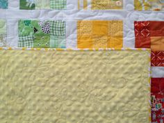 flower quilting with minky back. Loppy flower love this for a back