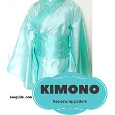 How to make a simple KIMONO - DIY sewing Pattern & tutorial - Sew Guide