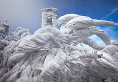 My Modern Metropolis For 10 days, extreme weather pummeled Mount Javornik, part of a mountain range in eastern Slovenia as well as a popular ski locale. Photographer Marko Korosec captured the breathtaking, sculptural ice that formed. All Nature, Science And Nature, Amazing Nature, Winter Photography, Nature Photography, Levitation Photography, Exposure Photography, Abstract Photography, Beach Photography