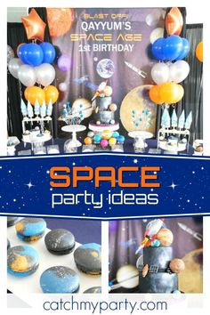 Take a trip into space with this fun Space themed birthday party! The birthday cake is amazing!! https://buff.ly/2jgAt5C #catchmyparty #partyideas #spacebirthdayparty #boybirthdayparty