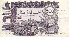 Algeria Dinars banknotes for sale. Dealer of quality collectible world banknotes, fun notes and banknote accessories serving collectors around the world. Over 5000 world banknotes for sale listed with scans and images online. Algeria Travel, Timbre Collection, E 500, Character Art, Nature Photography, Vintage World Maps, History, Articles, Coins