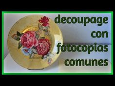Decoupage Printables, Decoupage Vintage, Toddler Art, Dyi Crafts, Interior Design Living Room, Decorative Plates, Recycling, Handmade, Youtube