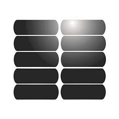 10 Bandes adhésives réfléchissantes pour signalisation sur casque 6×2 cm – Noir Réfléchissant