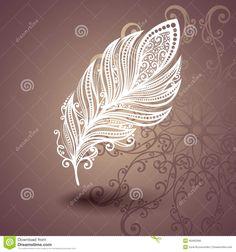 Calibre Avec La Plume Sans Paire à L'arrière-plan Fleuri Illustration de Vecteur - Illustration du fragilité, élégance: 40465368