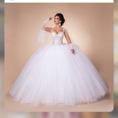We love this Cinderella style ball gown wedding dress. The huge skirt has a very princess feeling. Lovely bridal #fashion designs like this can be easily produced by our firm for brides of any size. Your location is not a factor either. We can replicate any dress from a picture. You can also make changes to any one of our designs. get pricing on any picture and more information about custom #weddinggowns from us when you visit our main website.
