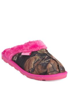 Blazin Roxx® Women's Hot Pink Sequins with Camo Slippers | Cavender's