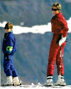 Diana , William & Harry à Lech _ Avril 1991