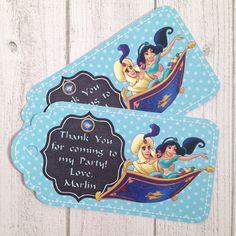 10 - Aladdin Princess Jasmine Personalized Party Favor Gift Tags Birthday Party Favor Jasmine Party Supplies Jasmine Birthday Favor by MichelleAndCompany on Etsy