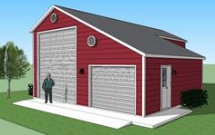 Sonata rv port home with garage and porch diy house for Rv garage doors for sale