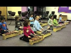 Kindergarten February 2014 HMJDS Orff Instruments >>> Melodic/Rhythmic echoing. Basic bordun with songs.