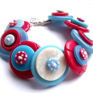Quirky Handmade Button Jewellery - Folksy
