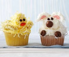 easter lamb and ducky cupcakes