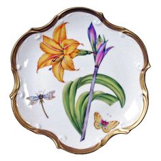 Anna Weatherly Bouquet of Flowers - salad plate $344 (don't love the butterfly/dragonfly)
