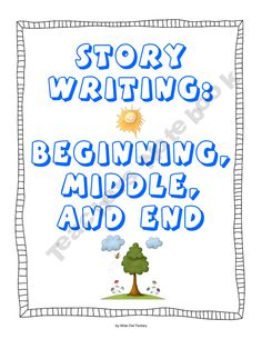 free download - beginning, middle, and end story writing frames with differentiation in writing workshop, grades 1 and 2. this is a 65 page pdf with 54 pages for students. 11 of the pages are for a class story sort activity or for small groups to discuss beginning, middle, and end of stories. the variety of choice of pages offers different levels of support for the emergent to independent writer.
