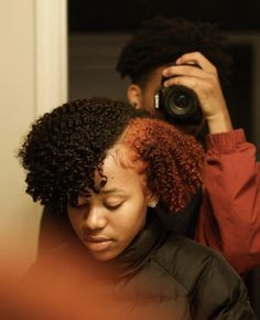 Follow: @Tropic_M for more ❄️ Instagram:@glizzypostedthat💋 Dyed Natural Hair, Pelo Natural, Natural Hair Tips, Natural Hair Styles, Natural Hair With Color, Natural Makeup, Black Power, Trendy Hairstyles, Bob Hairstyles