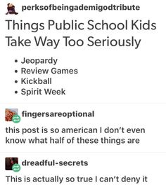 and private school kids<< AND HOMESCHOOLED KIDS.JEEZ PEOPLE, YOU FORGET WE'RE EVENA LIVE AND UNDERSTAND THE ALPHABET XD