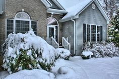 How to remove snow and ice or prevent them from building up on your home is good winter maintenance. Snow and ice can take a toll on home systems and exteriors. Chill, Egress Window, Protecting Your Home, Home Repair, Home Improvement, Real Estate, Yard, House Design, Scott Mcgillivray