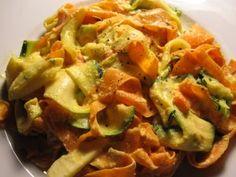 zucchini and carrot pasta fettucini alfredo