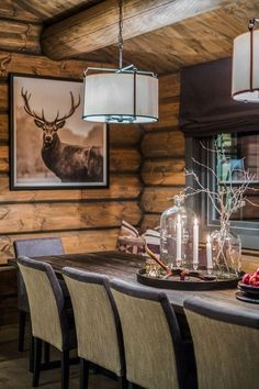 Deer Little Cabin Rustic Home Design, Rustic Decor, Timber Cabin, Little Cabin, Cabin Interiors, Wooden House, Black House, Living Room Inspiration, House In The Woods