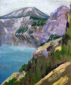 dappledwithshadow:  Crater Lake, Arthur Wesley Dow1919