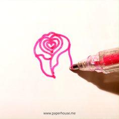 Rose Doodle, Doodle Art, Art Drawings For Kids, Easy Drawings, Stylo Art, Vintage Rosen, Tattoo Zeichnungen, Pen Art, Easy Paintings