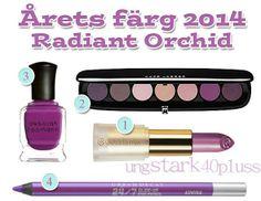 Årets färg 2014 – Radiant Orchid – Makeup