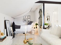 34 Square Meter Cozy Attic Studio Apartment | Small room | decoholic