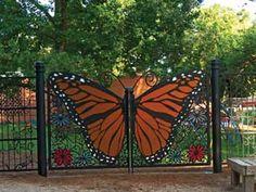 Custom Monarch Butterfly Gate