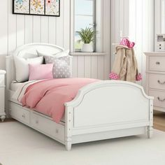Mistana Ulus Twin Platform Bed with Trundle Twin Canopy Bed, Twin Bunk Beds, Kid Beds, Girl Bedroom Designs, Girls Bedroom, Bedroom Decor, Girls Twin Bed, Dorm Room Styles, Cool Dorm Rooms