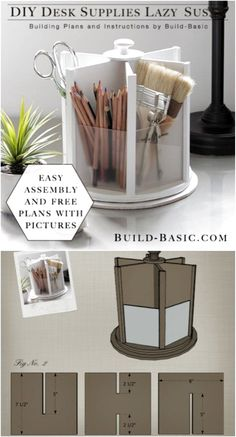 21 Awesome DIY Desk Organizers That Make The Most Of Your Office Space DIY Office Lazy Susan Related posts: 21 Awesome DIY Desk Organizers, die das Beste aus Ihrem Büro machen …. DIY desk with all boards! Desk Organization Diy, Craft Room Storage, Diy Storage, Diy Organizer, Storage Organizers, Office Storage, Makeup Storage, Craft Rooms, Organizing Ideas