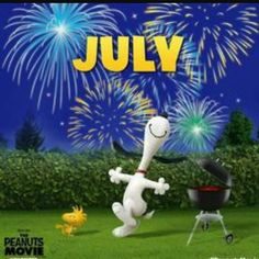 July. Snoopy and Woodstock 3D.
