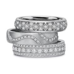 Diamond Bands for Her from BC Clark Jewelers...for the right hand...either the top or bottom one.